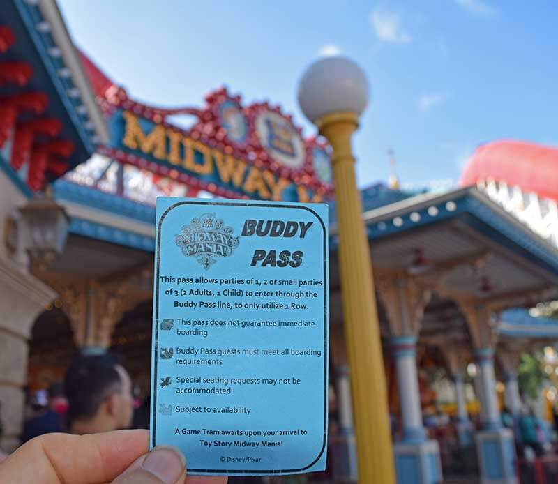 Midway Mania Buddy Pass - Disneyland Height Requirements