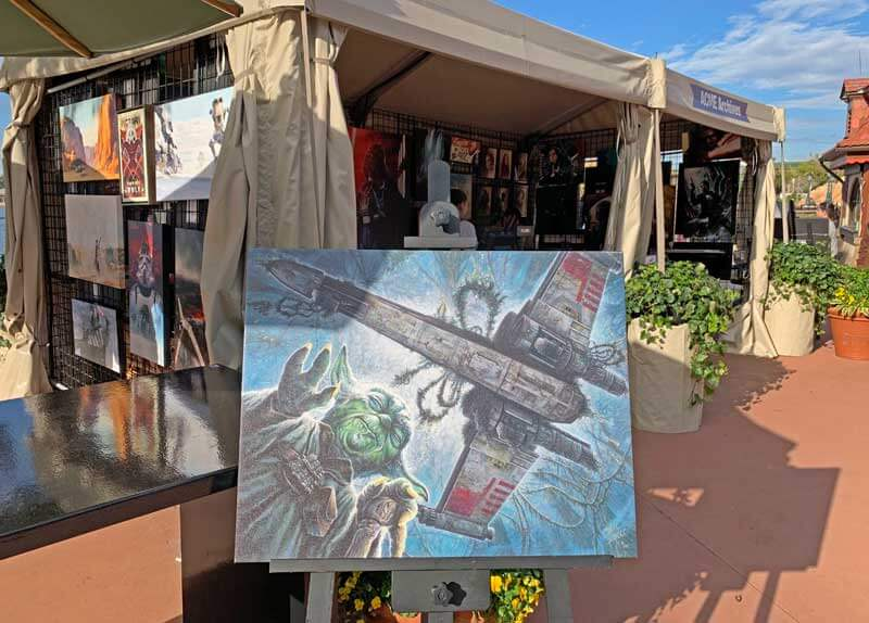 Epcot International Festival of the Arts - Star Wars Art