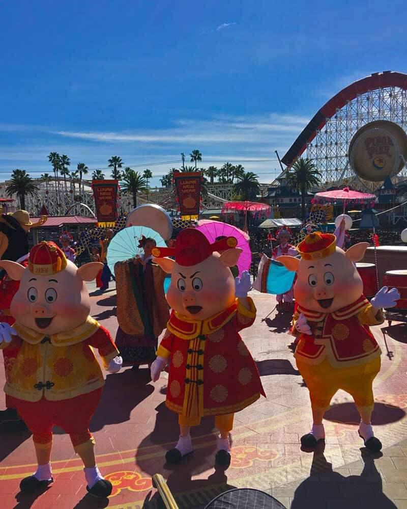 Lunar New Year at Disney California Adventure - 3 Pigs