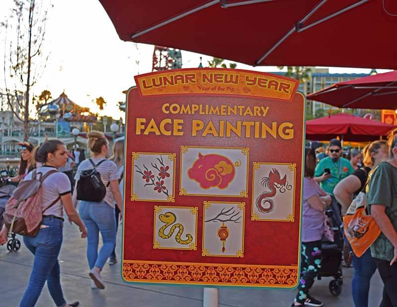 Lunar New Year at Disney California Adventure - Face Painting