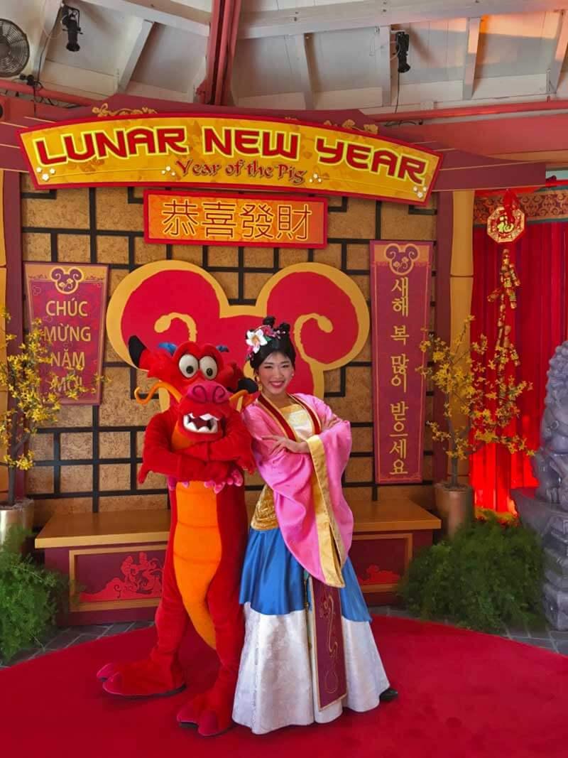 Lunar New Year at Disney California Adventure - Meet Mulan and Mushu