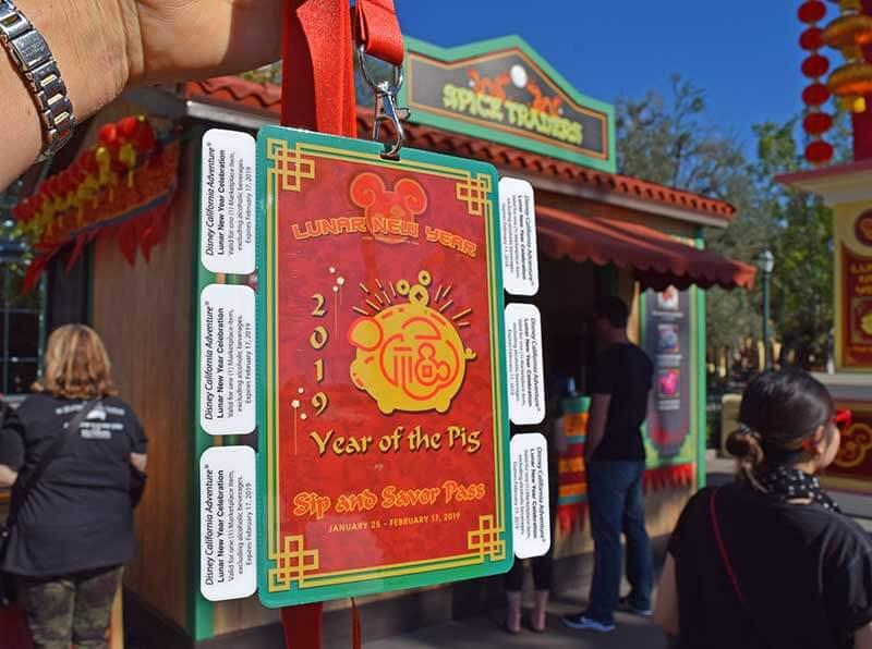 Lunar New Year at Disney California Adventure - Sip and Savor Pass