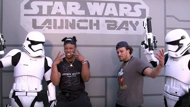 Pro Bowlers Visit Star Wars Launch Bay