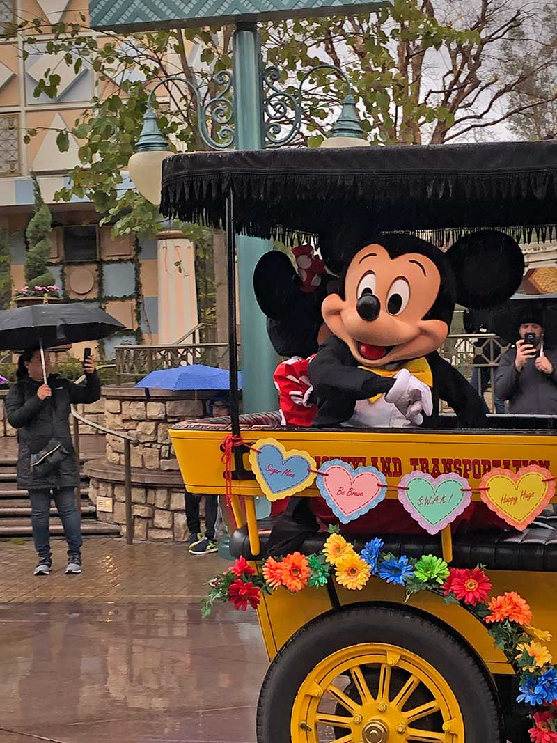 Disneyland Rainy Day Tips - Mickey's Rainy Day Cavalcade