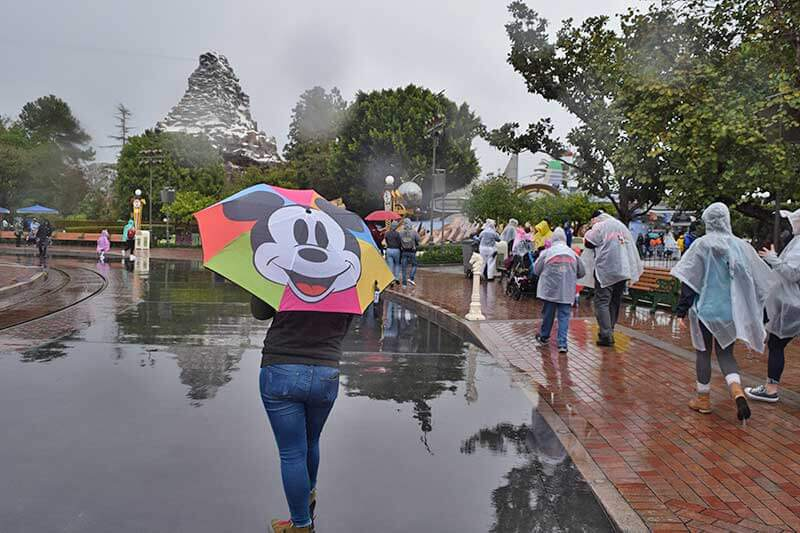 Disneyland Rainy Day Tips - Rainy Day at Matterhorn