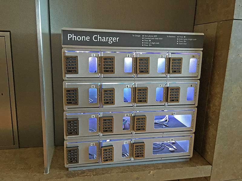 Tips for Visiting the Getty Center with Kids - Cell Phone Charging