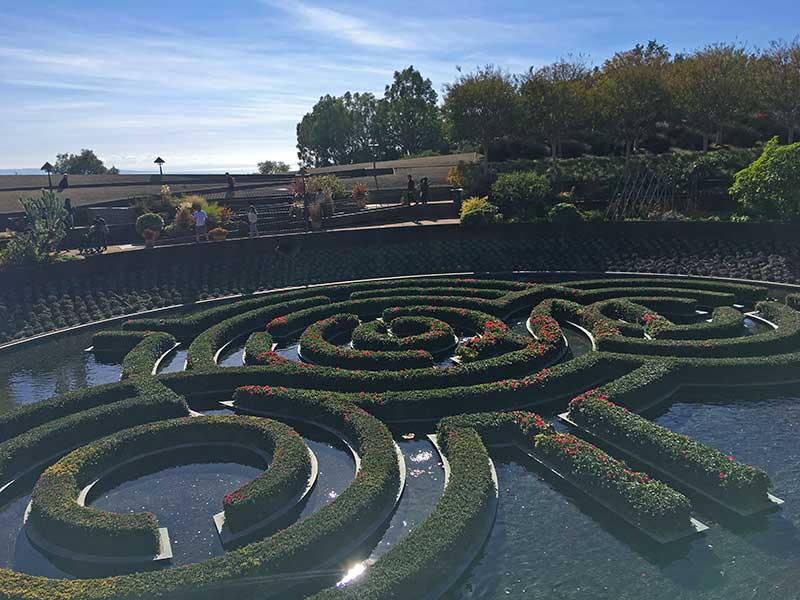 Tips for Visiting the Getty Museum with Kids - Garden Maze