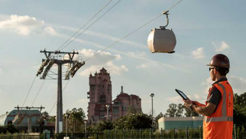 First Test Run, Disney Skyliner Transportation System
