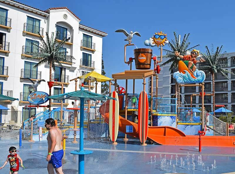Visiting Los Angeles with Kids - Waterpark at Hotel
