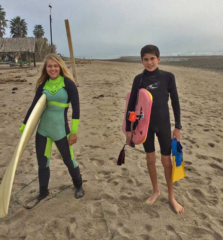 Visiting Los Angeles with Kids - Surfing