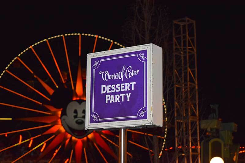 Disneyland's World of Color Dessert Party