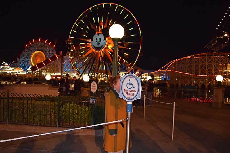 Disneyland's World of Color - Handicapped Access