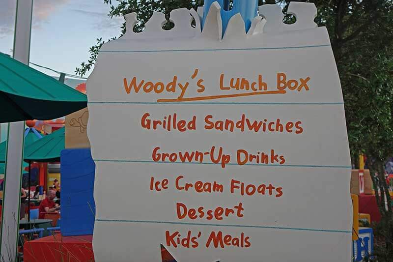 Toy Story Land - Woody's Lunch Box Menu