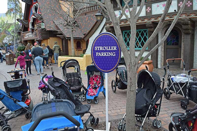 Using a Stroller at Disneyland - Storage