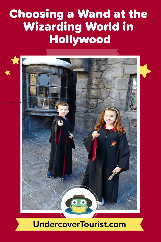 Choosing a Wand at the Wizarding World Hollywood-Pinterest Header