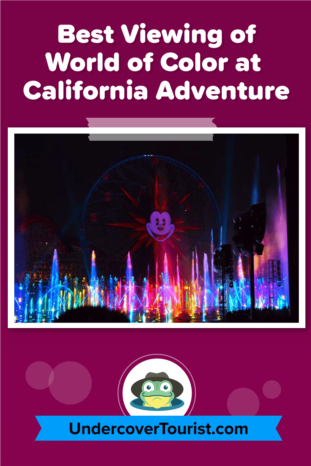 Best Ways and Places to View Disneyland's World of Color - Pinterest