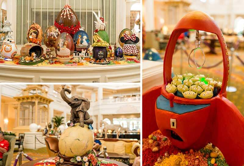 Disney World Easter Egg Displays