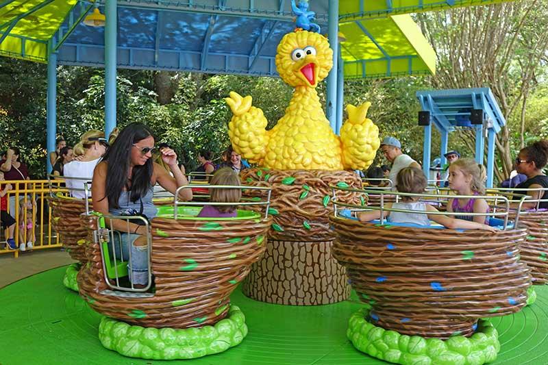 Sesame Street at SeaWorld Orlando - Big Bird's Whirl 'n' Twirl