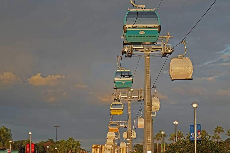 Disney Skyliner Transportation System - Gondolas in Motion