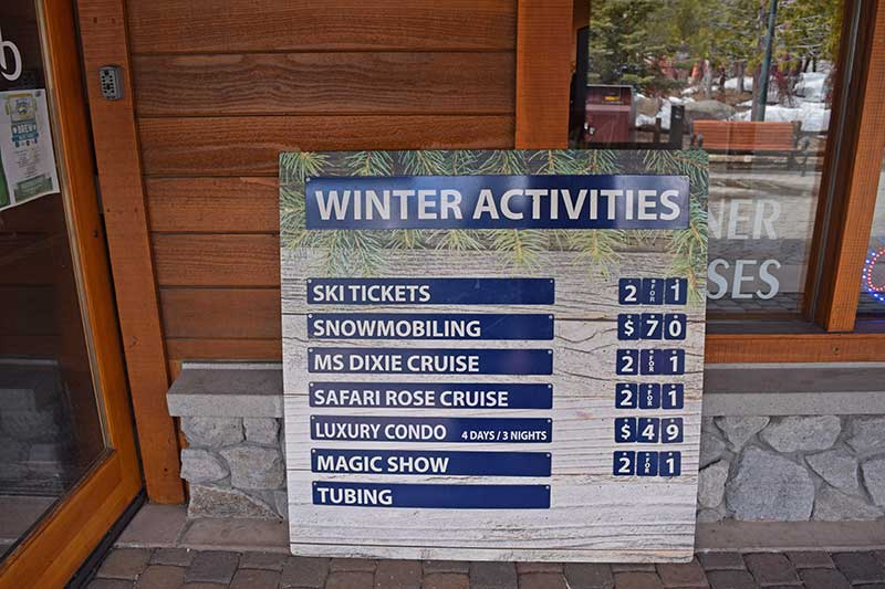 Guide to South Lake Tahoe Ski Resorts - Village Activities
