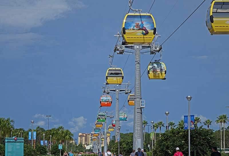 Disney Skyliner Transportation System - Gondola Testing