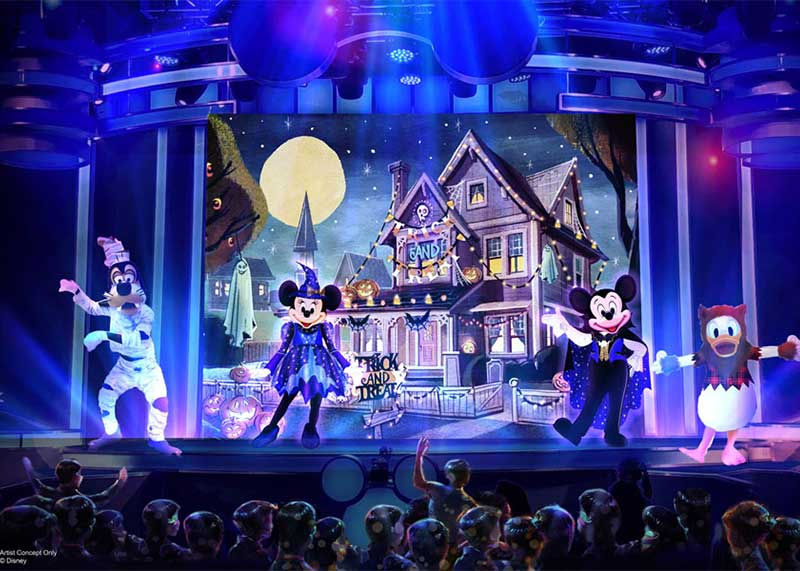 Disneyland Debuts an All-New Halloween Party for 2019 - Mickey, Minnie and Goofy in Costume
