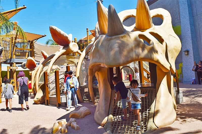 The Best Rides and Entertainment at Universal Studios Hollywood for Toddlers - Dino Play Area