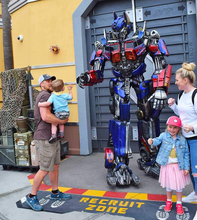 The Best Rides and Entertainment at Universal Studios Hollywood for Toddlers - Transformers