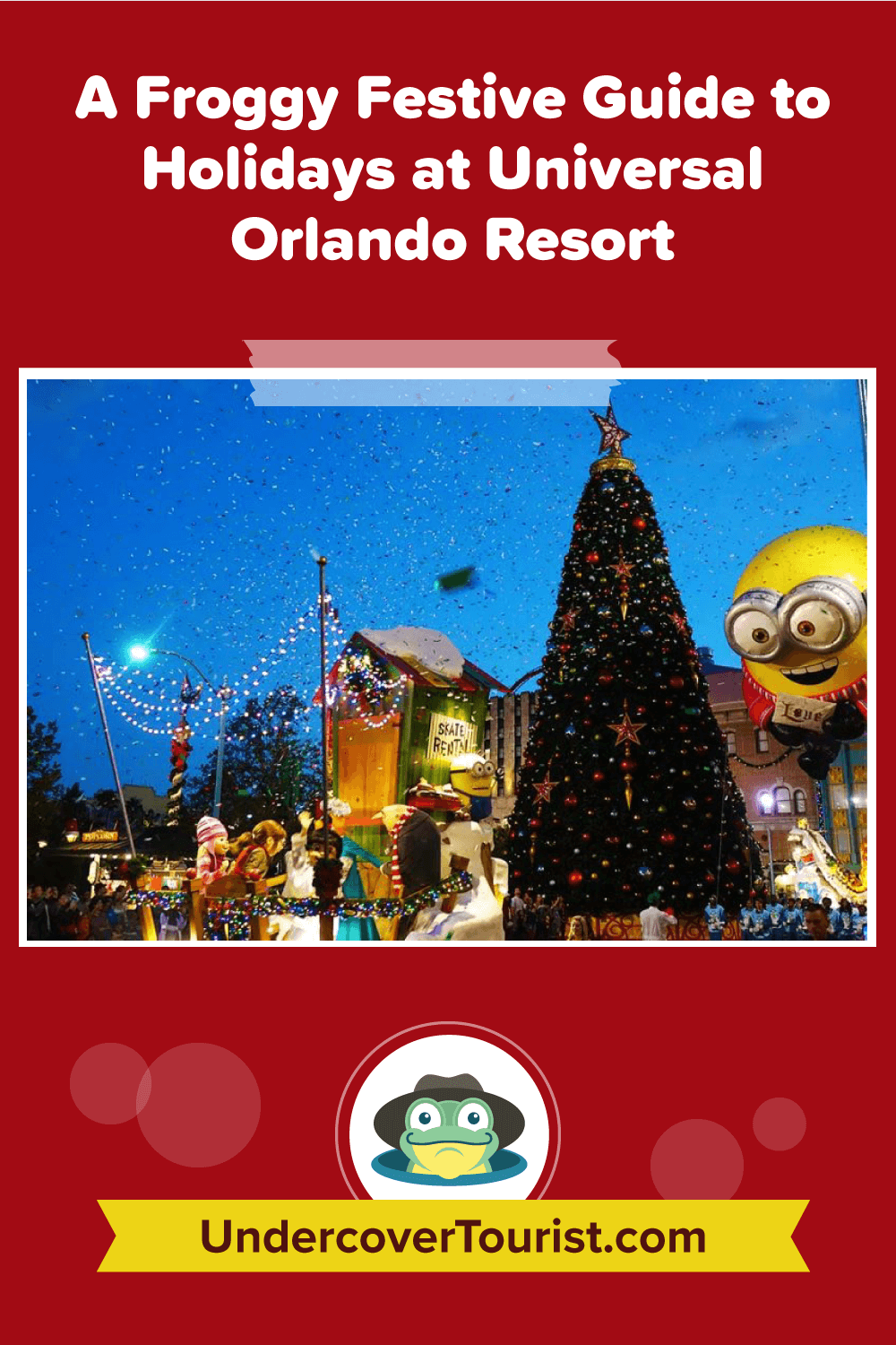 Christmas at Universal Orlando Resort - Pinterest Image