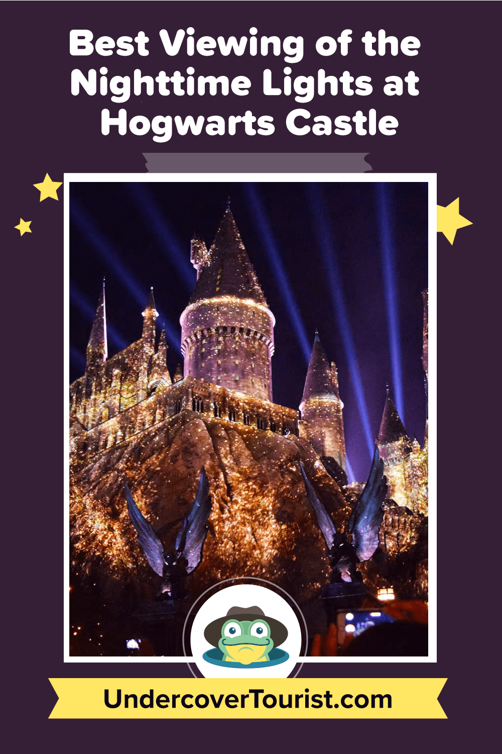 The Best Viewing of the Nighttime Lights at Hogwarts Castle