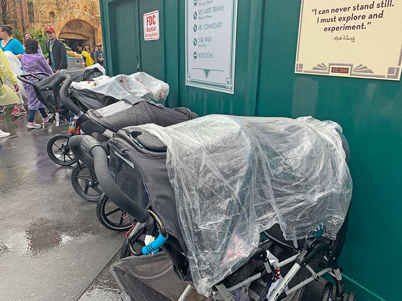 Rainy Day at Disney World - Stroller Covers