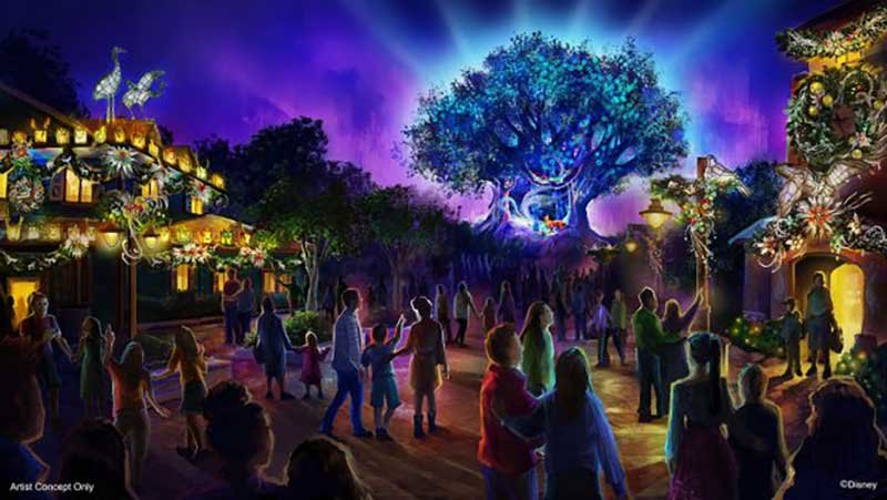 Holidays at Animal Kingdom - Tree of Life
