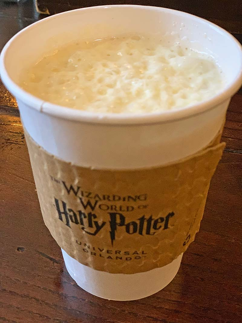 Butterbeer at Universal Orlando - Hot Butterbeer