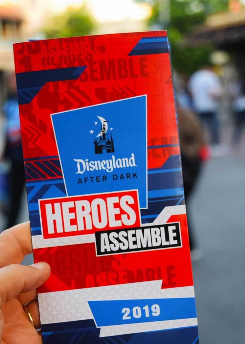Disneyland After Dark - Heroes Assemble Map