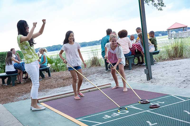 Tips for Visiting Hilton Head with Kids - Shuffleboard