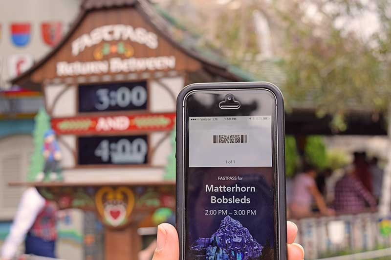 Tier 1 Disney Maxpass Ride - Matterhorn Bobsleds