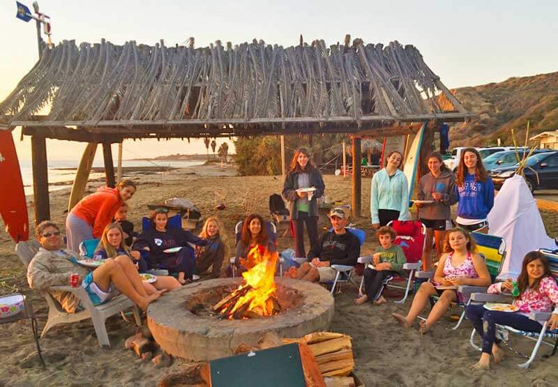Packing for a Beach Vacation with Kids - Beach Bonfire