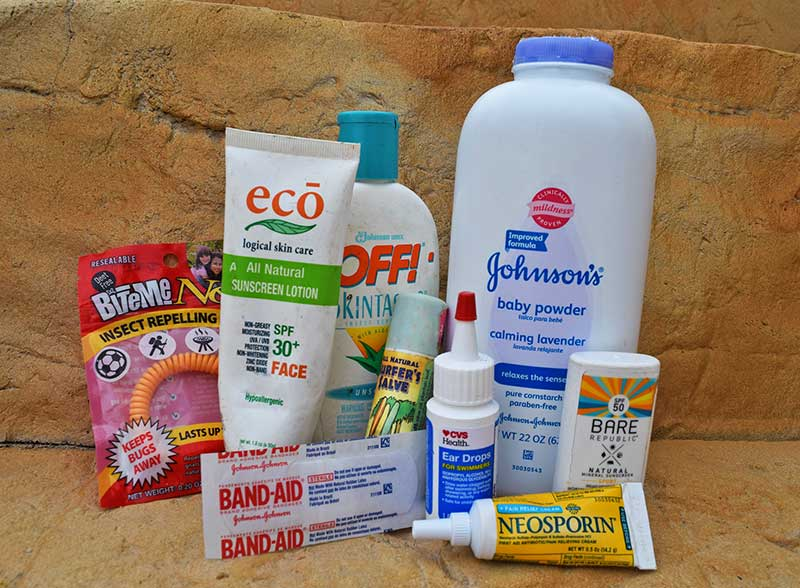 Packing for a Beach Vacation with Kids - Supplies