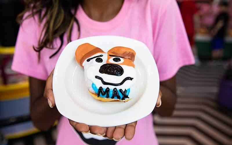Secret Life of Pets 2: Max Doughnut at Voodoo Doughnuts CityWalk