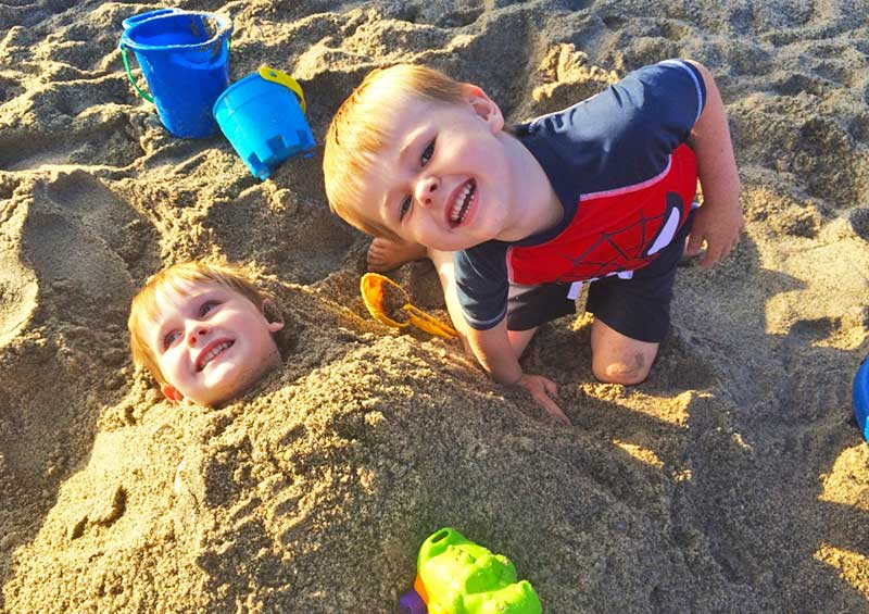 Tips for a Great Beach Vacation with Kids - Sand Play