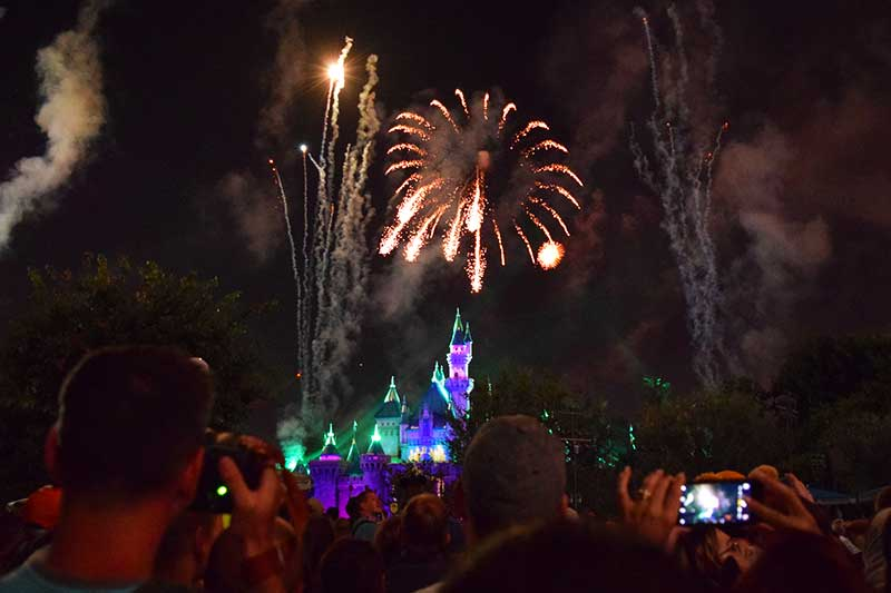 Best Places to View Disneyland Fireworks