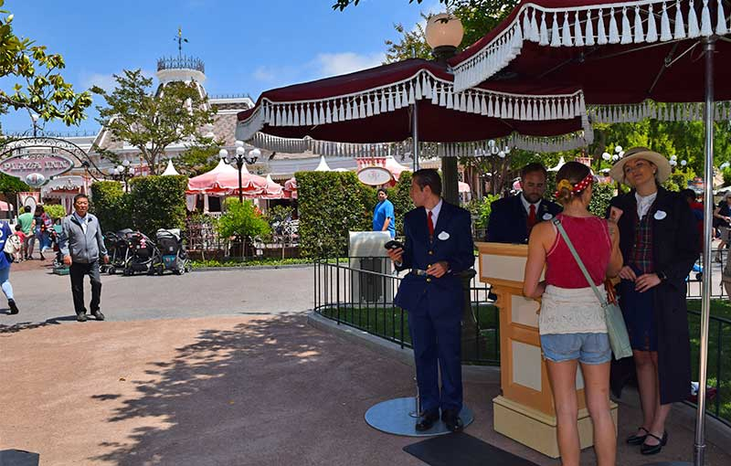 Overview of Disneyland disability Access Service DAS - New Main Street Kiosk