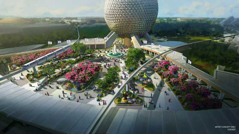 What's Coming to Disney World - Epcot Reimagined Entrance