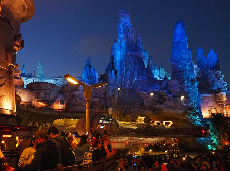 Star Wars: Galaxy's Edge at Disneyland at Night