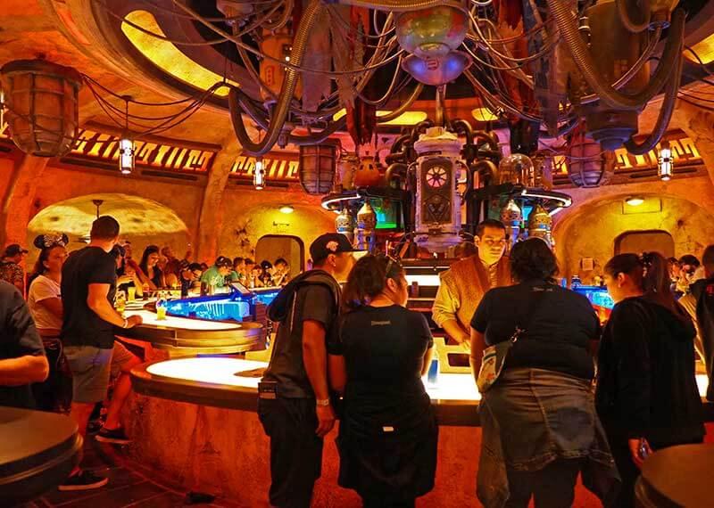 Oga's Cantina inside Disneyland