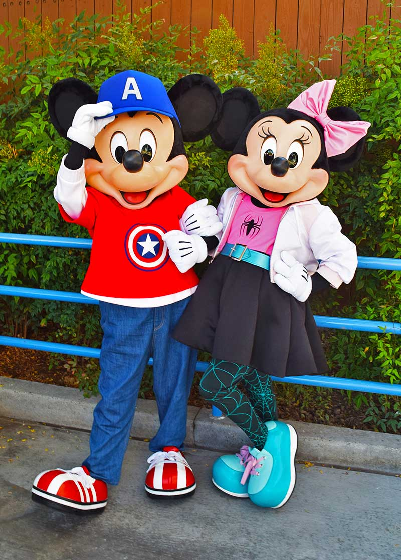 Disneyland Events - Marvel Cosplay Mickey and Minnie