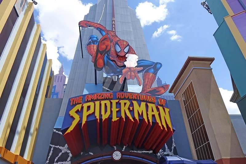 Best Queues at Universal Orlando - Amazing Adventures of Spider-Man