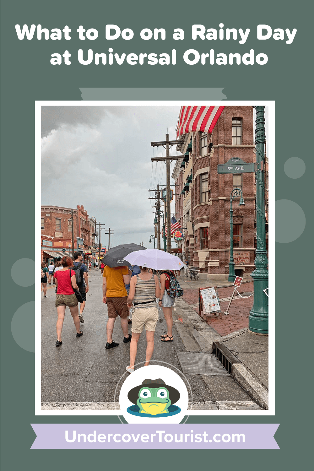 What to Do on a Rainy Day at Universal Orlando