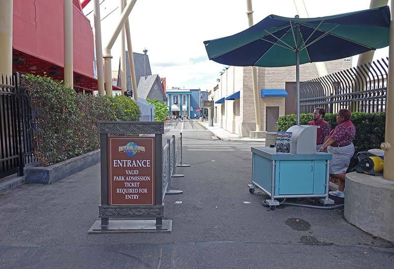 Sensory Breaks at Universal Orlando - Secret Entrance at Universal Studios Florida