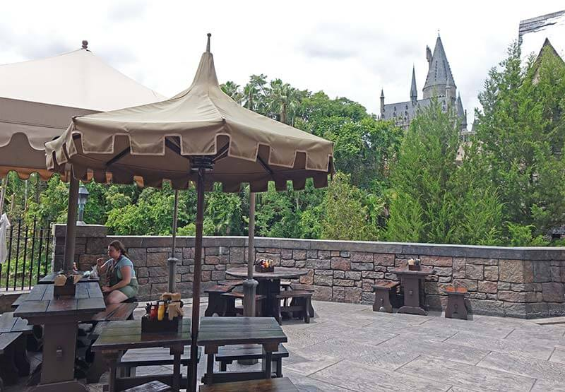 Sensory Breaks at Universal Orlando - Three Broomsticks Patio